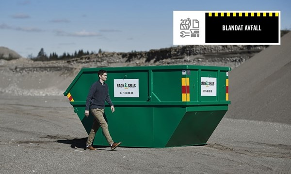 Blandat Avfall Container fastpris