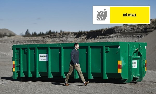 Stor Container Träavfall