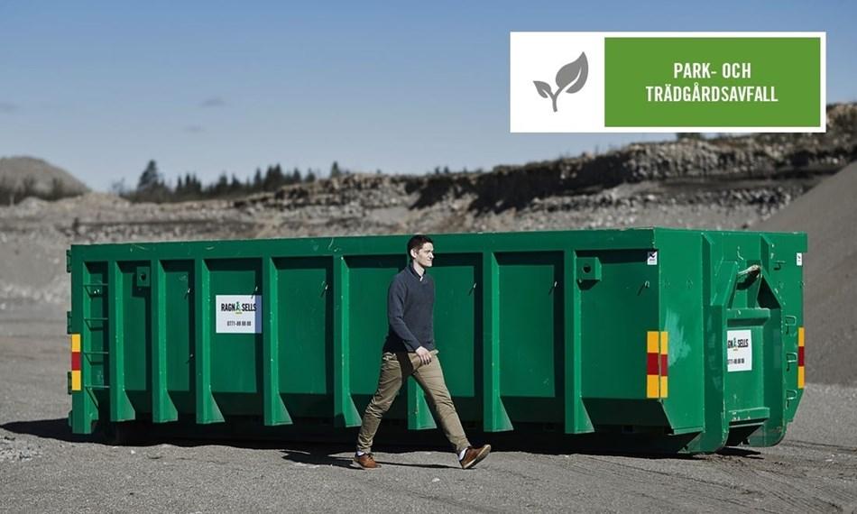 Stor Container Fastpris Park och trädgårdsavfall