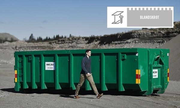 Stor Container Fastpris Blandskrot
