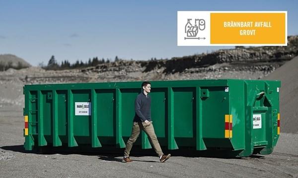 Stor Container Fastpris Brännbart Avfall