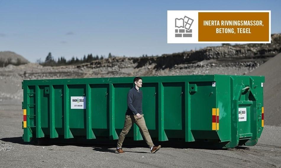 Stor Container Fastpris Inerta Rivningsmassor, Betong, Tegel