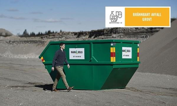 Brännbart Avfall Container fastpris